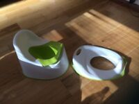 Potty and toilet seat -set