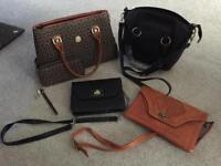 LOW PRICE: Selection of side bags, wallet and handbags