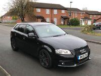 Audi A3 black edition sportback 2.0 tdi 10 reg 77k 12 months mot