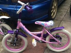 Small princess 14 inch bike