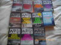 PETER JAMES BOOK SET OFF 11