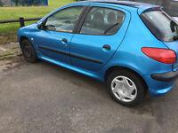 peugoet 206 cheap tax great car!
