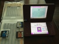 Nintendo dsi xl with games and charger like new