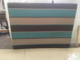 BOUTIQUE HOTEL STYLE HEADBOARD WITH MATCHING CURTAINS AND PELMET FOR BED BASE - LUXURY ITEMS