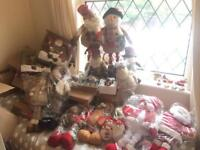 Job lot of Christmas decorations