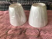 BRAND NEW - 2 x White Pleated Lampshades