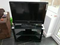 Toshiba 32 inch t.v and 3 teir stand