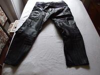 Frank Thomas (Ladies) black leather motorcycle trousers