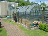 For sale, 2 X Halls supreme greenhouses , Halls, toughened glass throughout,19ft X 6ft wide.