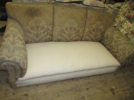 Antique three seater settee for restoration, all original, Somerset collect; Wells BA5