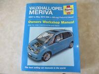 Haynes Workshop Manual.Vauxhall Meriva.