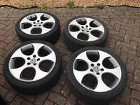 """VW 18"""" GTI Monza wheels mirror finish"""