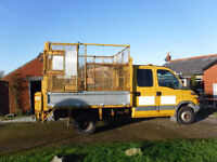 Iveco 65c15 double cab tipper, 54 reg, MOT to end Oct 17, tax till May 17, 500 Kg tail lift.