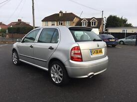 2006 SKODA FABIA VRS TDI PD 130 SILVER Very decent condition, 2 owner car from new!!