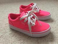 Kids Vans Pink Trainers size 12