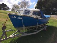 Lady jane 18ft in board complete boat