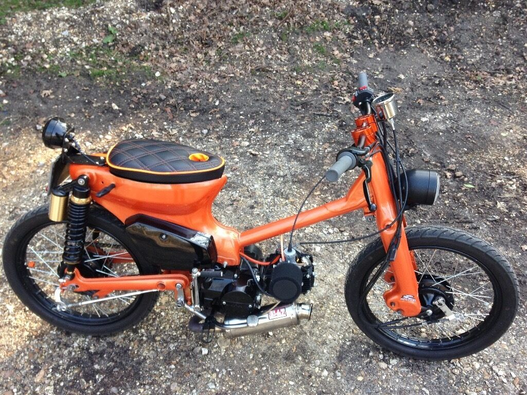 Honda c90 Cub 1987 125cc Pit Bike Engined Chopper Bobber Cafe Racer Custom