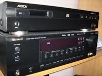 Sherwood 5.1 Amp/Receiver and Celestion Active Sub and Sony Speakers for sale.
