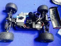 Kyosho Dst 1/10th scale nitro rc car buggy