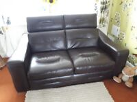 Large 2 seater leather sofa and 2 chairs housing units cost £3300 quick sale in excellent condition