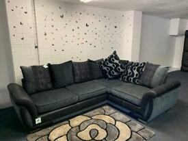 Absolutely immaculate DFS Grey & Black Corner sofa delivery 🚚 sofa suite couch furniture RRP £1050