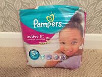 BNIB Pampers Active Fit, size 5+, 34 pack