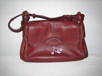 Radley burgundy leather handbag