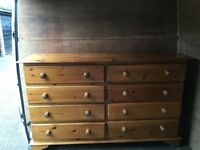 Antique Pine Double Chest of Drawers