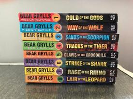 Brand new Bear Grylls survival books x 7