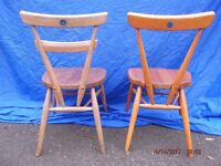 2 Blue Dot Ercol School Chairs