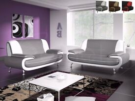 🔴⚫️🔴SAME DAY DELIVERY 🔴⚫️🔴BRAND NEW CAROL 3 AND 2 SEATER SOFA -- AVAILABLE IN WHITE AND GREY