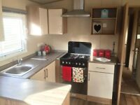 off site private sale double glazed central heated 2015 3 bed caravan with decking