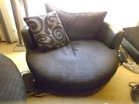 Sofa and chair for sale with footstool