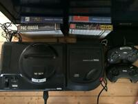 Sega mega cd 2 with mega drive and games