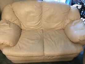 3 piece sofa with pouffe