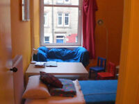 Spacious room available in Polwarth flat