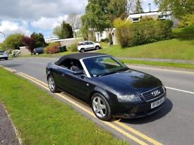 2004 (04) AUDI A4 2.5 TDI SPORT + CONVERTIBLE + 1 YEARS MOT + SERVICE HISTORY + DRIVES EXCELLENT!!!!