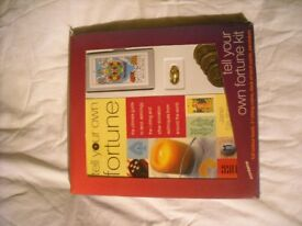 TELL YOUR OWN FORTUNE SET INCLUDES FULL COLOUR BOOK ICHING DECK OF TAROT CARDS PENDULUM