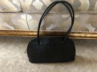 Genuine mulberry black croc leather vintage handbag