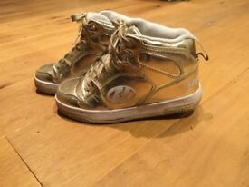 Heelys Size 3 Gold with One Wheel - £25
