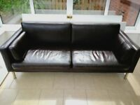 Brown Leather Sofa Excellent Condition