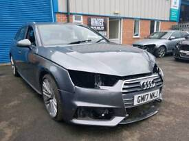 2017 17 REG AUDI A4 S-LINE ESTATE 2.0 TFSI AVANT TRONIC LIG DAMAGED REPAIRABLE SALVAGE