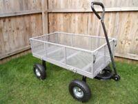 Large Garden Cart Heavy Duty Wagon Trolley