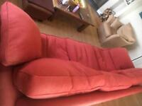 Large 3 seat Red Sofa