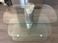 John Lewis Off The Wall Glass TV Stand