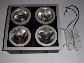 ANTARES Flos Architectural SQUARE CEILING Lights F.A by Porsche 4 lights RRP£230