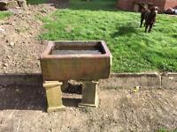 Old garden clay pot sink