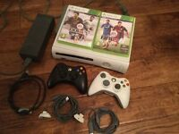 Xbox 360 2 Contollers with Fifa14 & Fifa15
