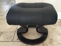 Leather effect footstool.