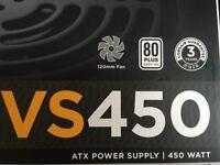 Corsair VS450 PSU power supply for a desktop pc
